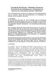 Die Anhörung der Europäischen Kommission - Euro-Betriebsrat.de