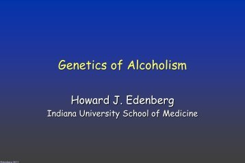 Genetics of Alcoholism - National Institute on Drug Abuse