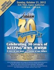 Sunday, October 21, 2012 - Baltimore Jewish Life