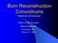 Burn Reconstruction Conundrums