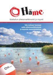 Matkailun yhteismarkkinointi ja myynti - Kehittämiskeskus Oy Häme