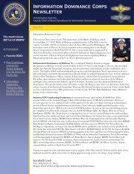 Information Dominance Corps Newsletter - Navy Cryptologic ...