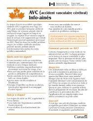 AVC (accident vasculaire cérébral) - Info-aînés