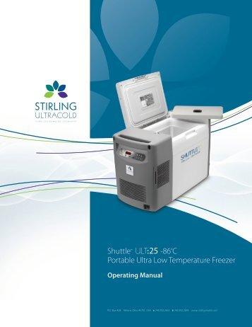 Shuttle™ ULT:25 -86ºC Portable Ultra Low ... - LABRepCo