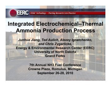 Integrated Electrochemical–Thermal Ammonia Production Process