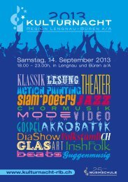 Samstag, 14. September 2013 - KulturNacht der Region Lengnau ...