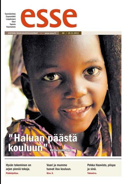 Esse 46/2012 (pdf) - Espoon seurakuntasanomat