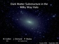 Dark Matter Substructure in the Milky Way Halo - cosmo 06