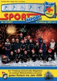 Der Sport Report verändert sich Wir gratulieren - TV Asberg 1897 eV
