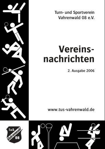 Trainingszeiten - beim TuS Vahrenwald 08