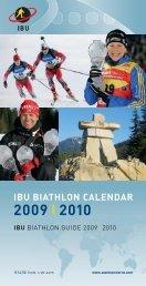 2009 I 2010 - International Biathlon Union