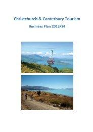 Christchurch & Canterbury Tourism 2013/14 Business Plan