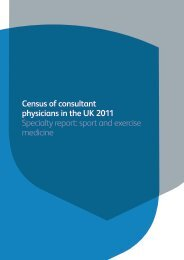 sport and exercise medicine - Royal College of Physicians