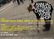 ANNUAL AUSTRIAN CHINESE WORK SHOP