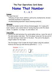 Name That Number - Key School