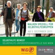ab 5. dezember 2011 walken speziell für selbsthilfegruppen