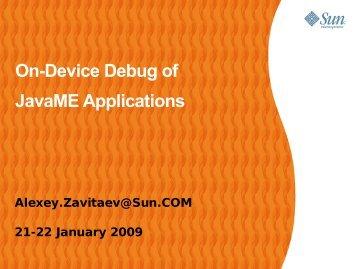 On-Device Debug of JavaME Applications - download - Java