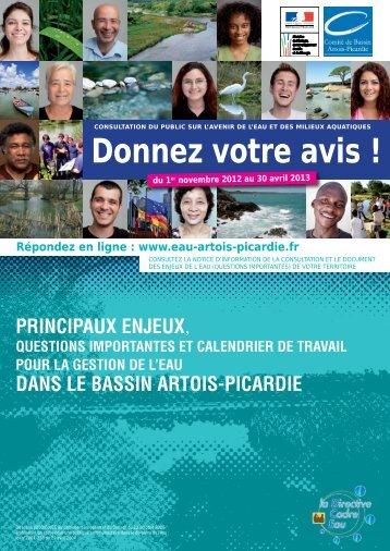 enjeux - Agence de l'eau Artois Picardie
