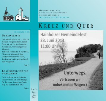 Juni/Juli 2013 - Ev-luth. Kirchengemeinde Hannover-Hainholz