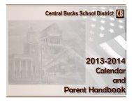 2013-2014 Calendar and Parent Handbook - Central Bucks School ...
