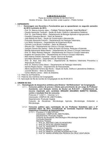 - Prof. Dr. Marcos Antonio Jabur – Colégio Técnico Agrícola ... - Unesp