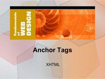 4. Anchor Tags