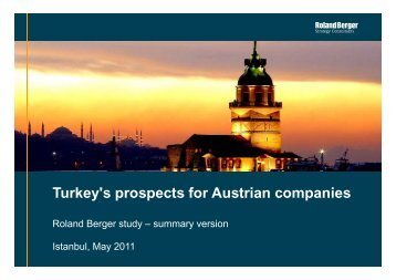 """Turkey's prospects for Austrian companies"" (PDF - Roland Berger"
