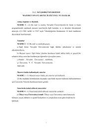 Mazeret Sınavları ile İlgili Usul ve Esaslar - Nevşehir Üniversitesi