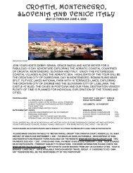 croatia, montenegro, slovenia and venice italy - Meyer Travel Group