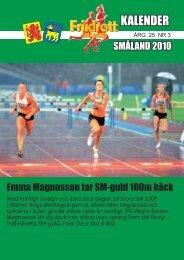 2010 års Kalender - Smålands friidrottsförbund