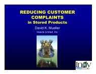 reducing customer complaints in stored products - Insects Limited, Inc.