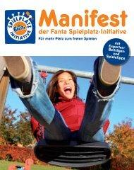 Manifest der Fanta Spielplatz-Initiative - Tuv