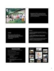 Plantation Human Development Trust (P H D T) Vision