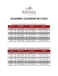 academic calendar 2011-2012 - Les Roches International School of ...