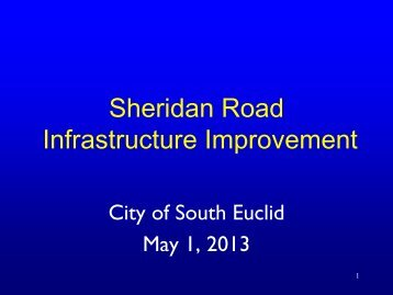 Sheridan Road Infrastructure Improvement Project - City of South ...