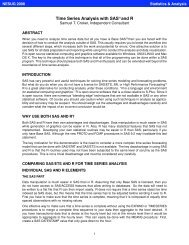 Time Series Analysis with SAS® and R