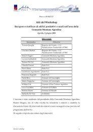 Atti del Workshop - AlpCity