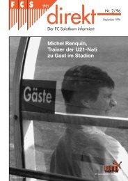Michel Renquin, Trainer der U21-Nati zu Gast im ... - FC Solothurn