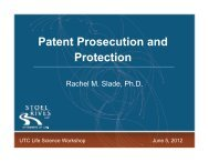 Patent Prosecution and Protection Rachel M. Slade, June 2012 (PDF)