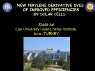 New perylene derivative dyes for dye sensitized solar cells
