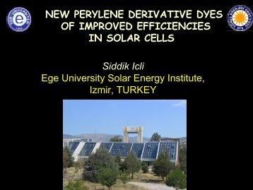New perylene derivative dyes for dye sensitized solar cells