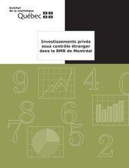 Investissements privés sous contrôle étranger dans la RMR ... - UQAC