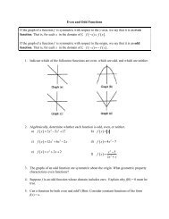 Honors Even and Odd Functions wkst