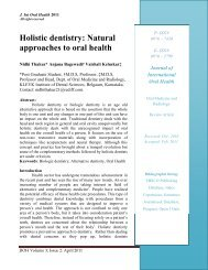 Holistic dentistry: Natural approaches to oral health - Ispcd.org