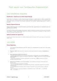 Tout savoir sur l'embauche d'apprenti(e) - Chambre de métiers et de ...
