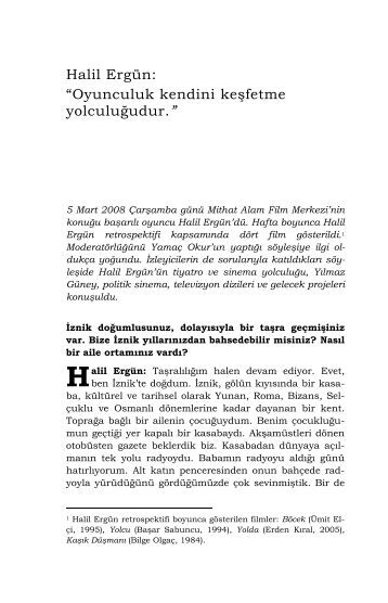 Halil Ergün - Mithat Alam Film Merkezi