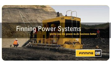 The Finning Power Systems Advantage Brochure - Finning Canada