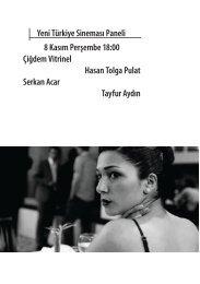 Yeni Türkiye Sineması Paneli 8 Kasım Perşembe 18:00 Çiğdem ...