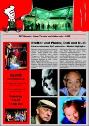 Abo-Zeitung 08/09 - ZAP
