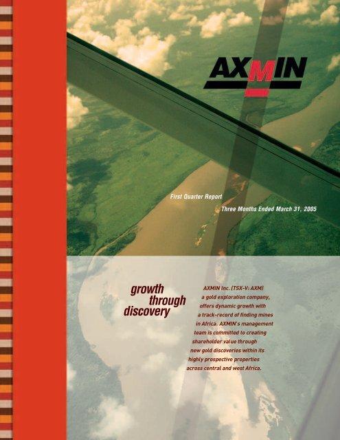 First Quarter Report - AXMIN Inc.